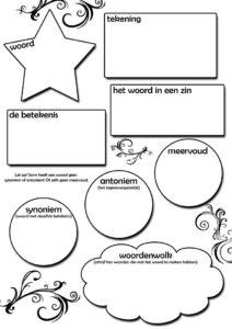 woordenschat werkblad